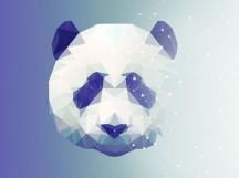 多边形设计效果,设计多边形熊猫图片-PS设计教程