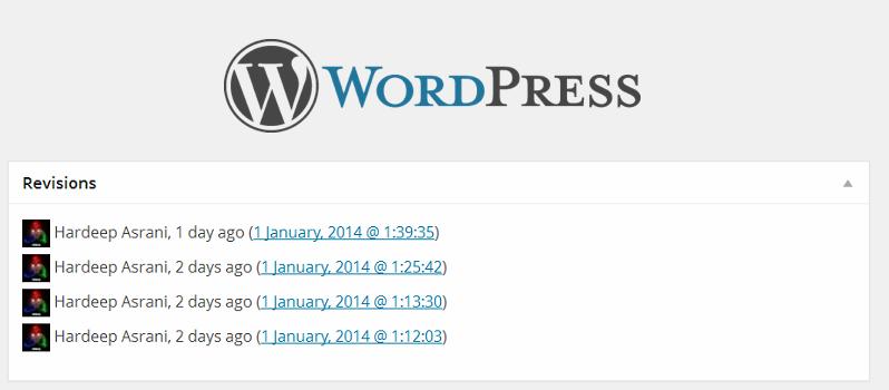 删除WordPress文章修订版本