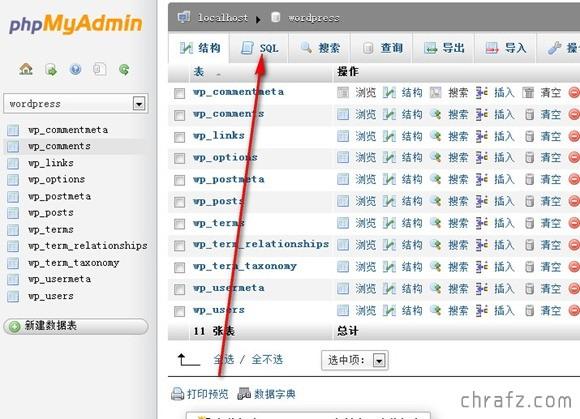 【技术】WordPress 更换域名的解决方案-张弦先生-chrafz.com