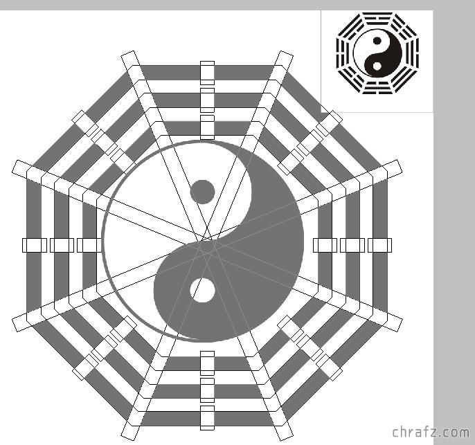 【设计】PS教程!教你用ps绘制一个太极八卦图