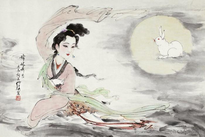 【知说】嫦娥奔月为什么要带只兔子呢?-张弦先生-chrafz.com