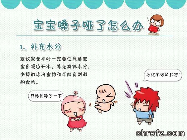 【知说·宝宝篇】chrafz宝宝嗓子哑了怎么办
