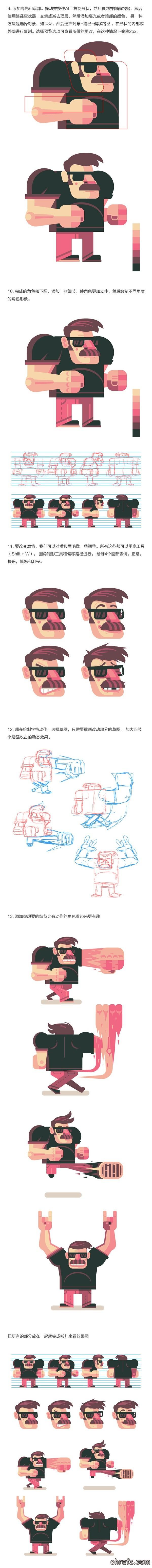 chrafz教你创建一组炫酷的动作游戏角色-AI设计教程