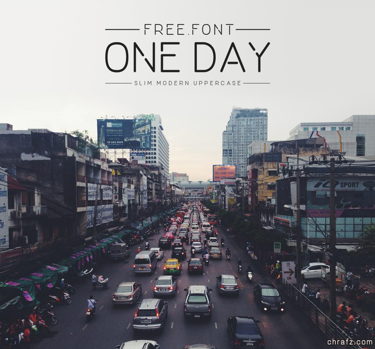 商用现代感字体:One Day 免费下载-张弦先生-chrafz.com