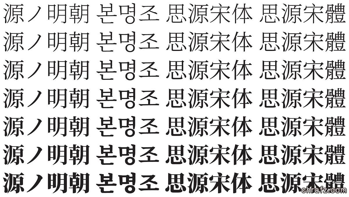 Adobe新推开源字体:思源宋体,免费下载