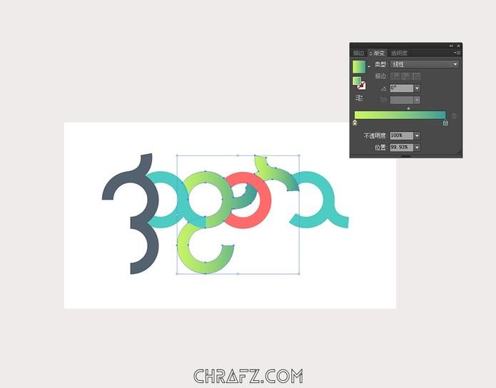 几何Logo设计流程-AI设计教程-张弦先生-chrafz.com