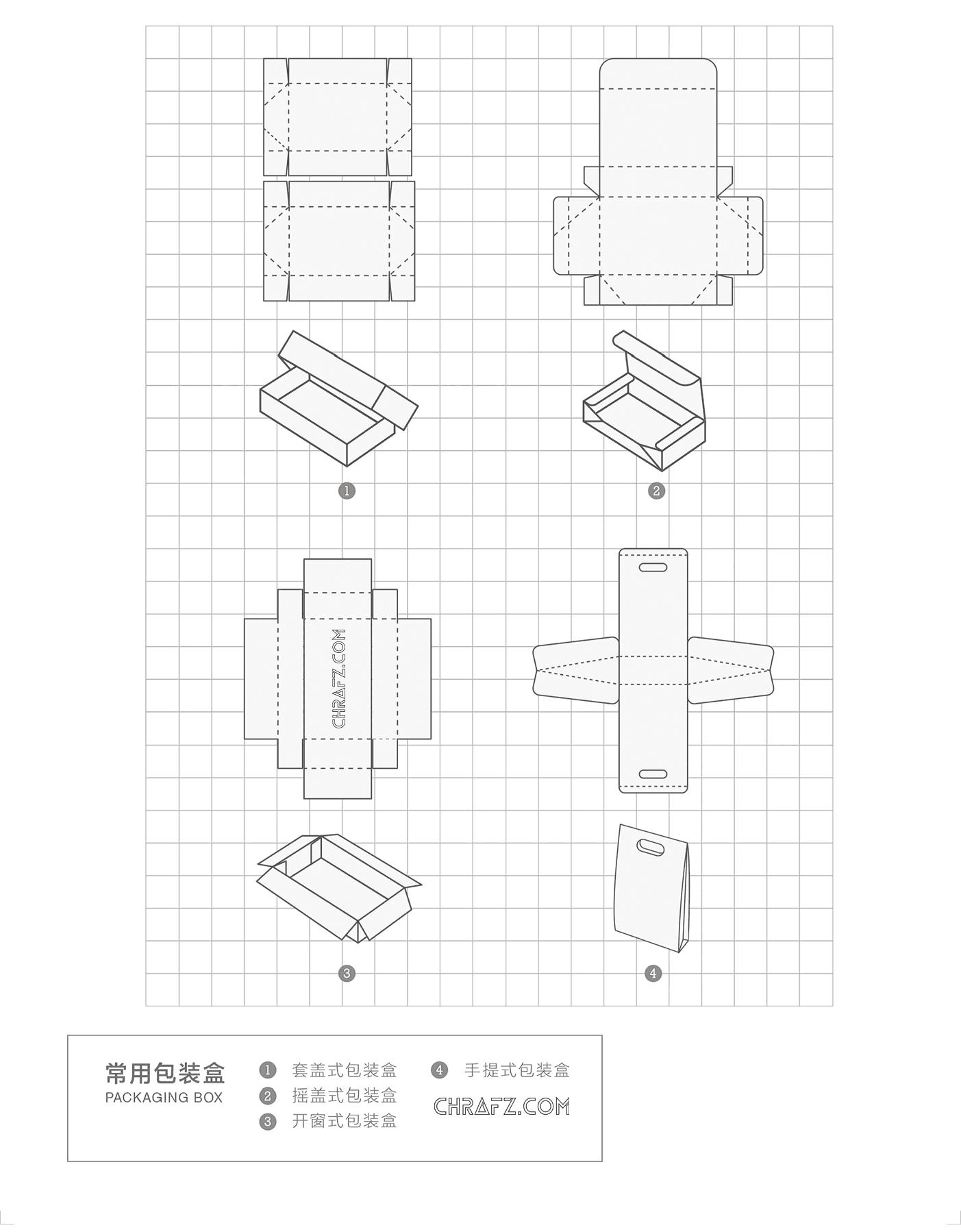 在设计中常用包装盒的规范-设计