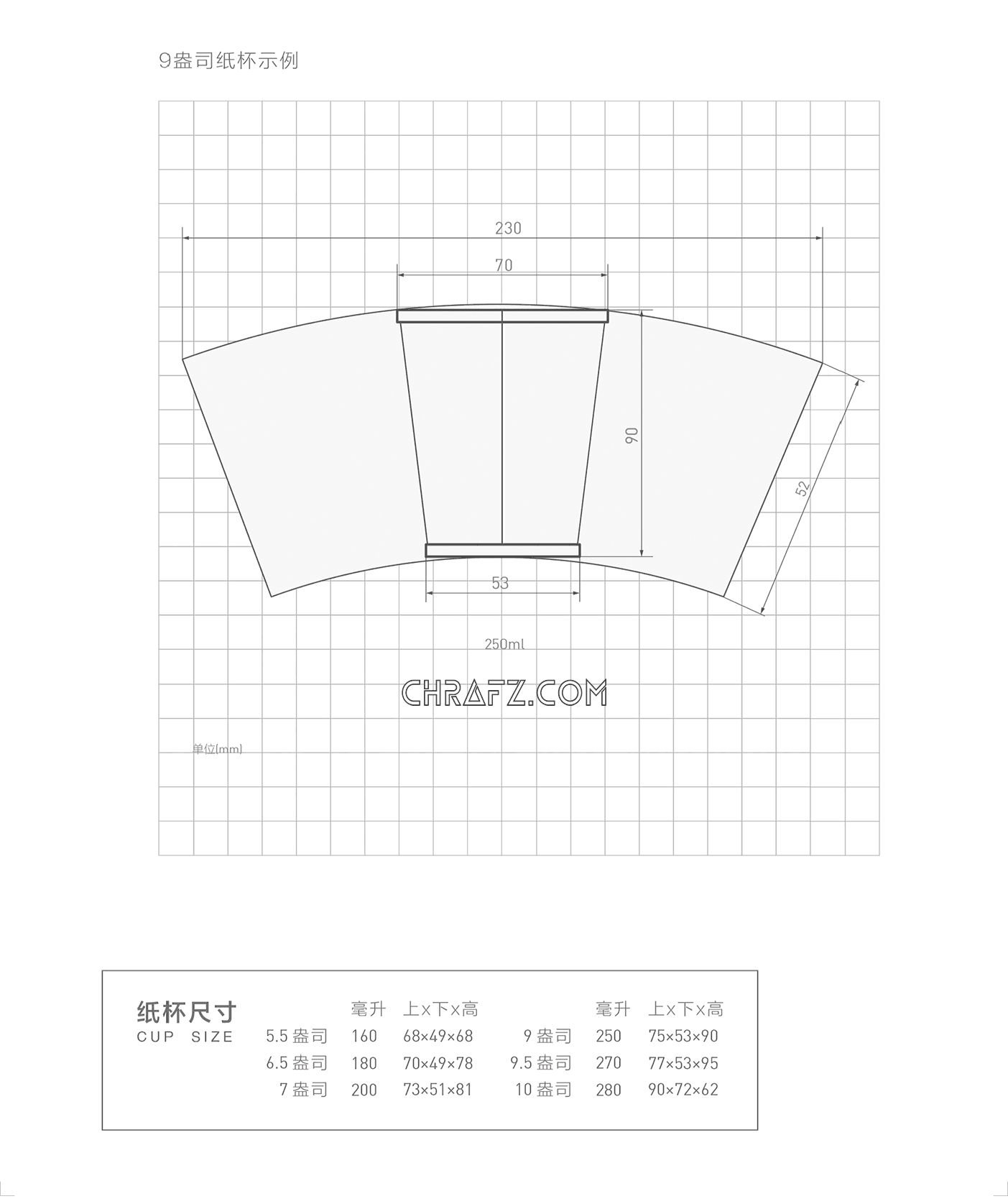 在设计中纸杯尺寸的规范-设计