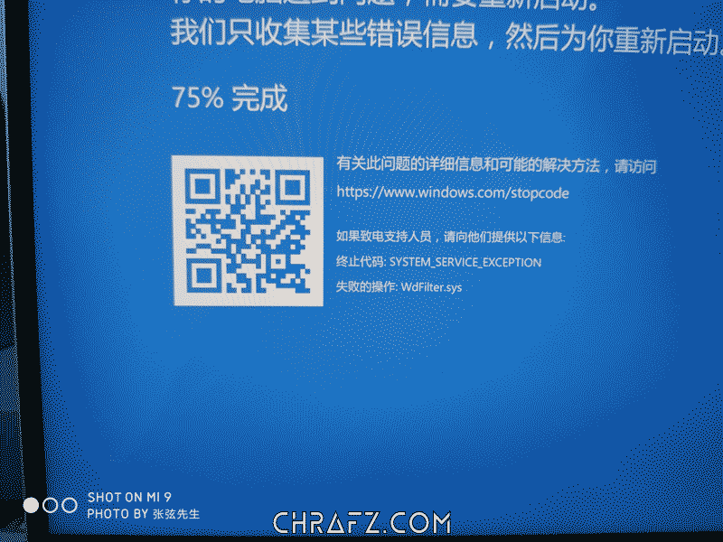 蓝屏wdfilter.sys导致系统无限重启